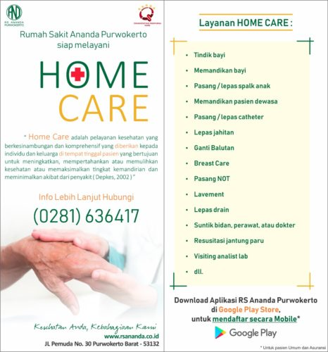 HOME CARE - RS ANANDA PURWOKERTO