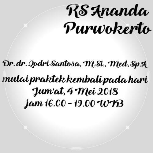 JADWAL DOKTER SPESIALIS ANAK - RS ANANDA PURWOKERTO