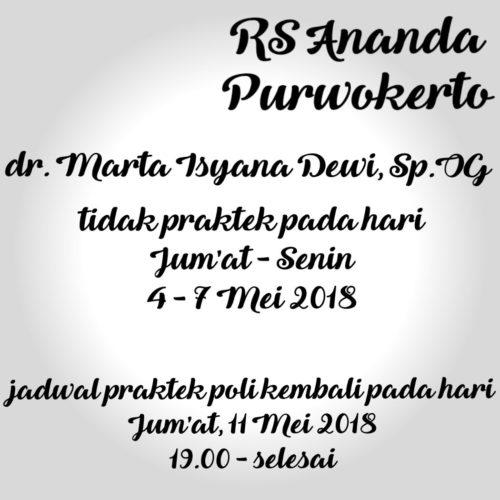INFO DOKTER CUTI - RS ANANDA PURWOKERTO