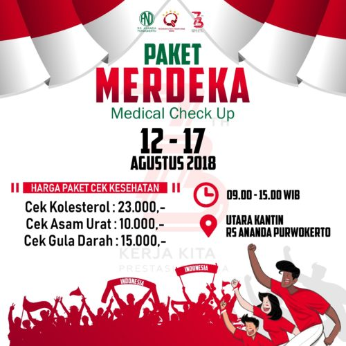 "PAKET MERDEKA ""MEDICAL CHECK UP"" - RS ANANDA PURWOKERTO"