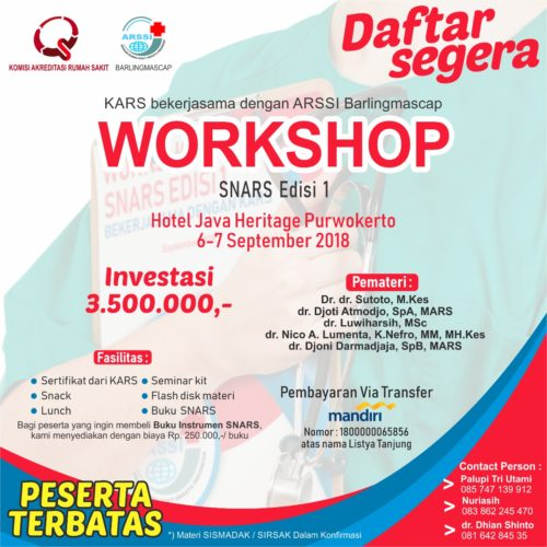 WORKSHOP SNARS EDISI 1