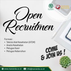 OPEN RECRUITMENT - RS ANANDA PURWOKERTO